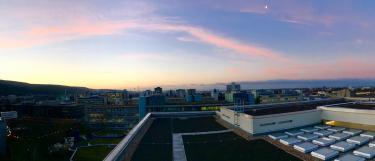 Ausblick vom Dach des URZ-Gebäudes INF330