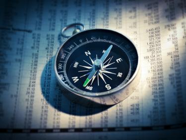 Nahaufnahme von einem Kompass