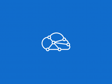 Cloud with network structure (Icon)