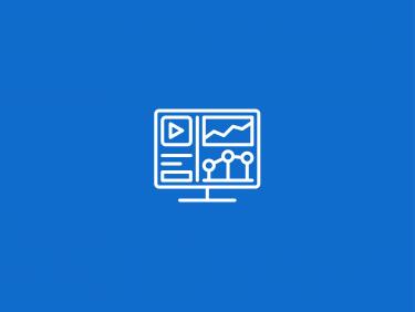 Desktop-Monitor mit diversen Anwendungen (Icon)