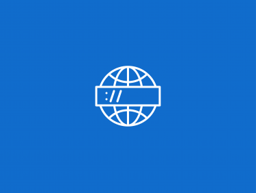 Globe with browser address bar (Icon)
