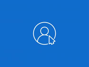 Person in einem Kreis mit Mauszeiger davor (Icon)